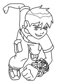 Crayon clipart ten Com/ben ten superhero 10/ben color