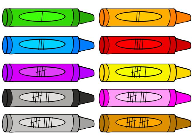 Crayon clipart ten Crayons Back Preschool to Activities!