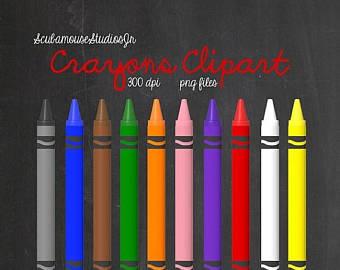 Crayon clipart ten SALE Png Set Crayons of