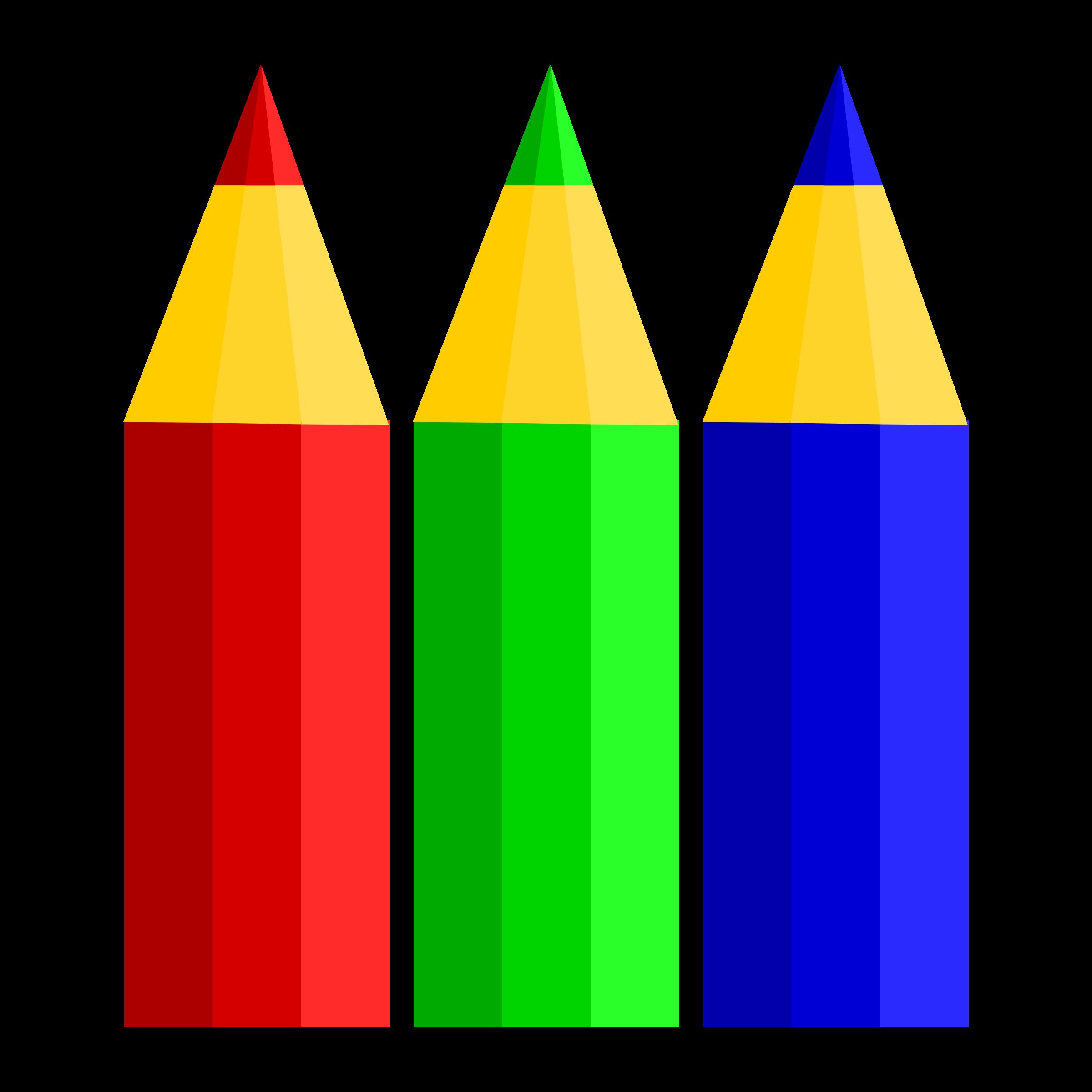 Pencil clipart three (PNG) Pencils Clipart BIG IMAGE
