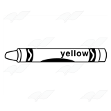 Crayon clipart yellow crayon Label Abeka Label—Yellow with Crayon