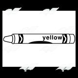 Crayon clipart yellow crayon Label Abeka Label—Yellow with Crayon