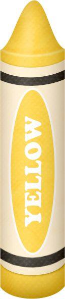 Crayon clipart yellow crayon Big Yellow Pinterest Crayons Colors