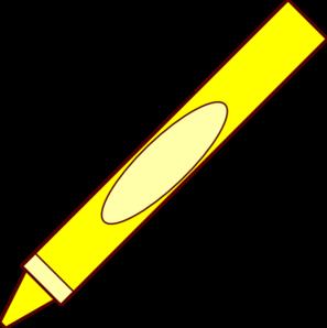 Crayon clipart yellow crayon  royalty Clip Art clip