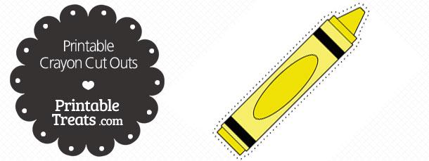 Crayon clipart yellow crayon Com Outs Printable — Printable