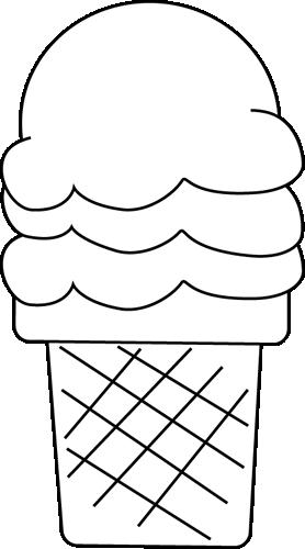Black & White clipart ice cream Cream And Free 5287