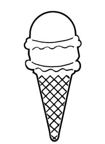 Black & White clipart ice cream Free Ice Clipart  Clipart
