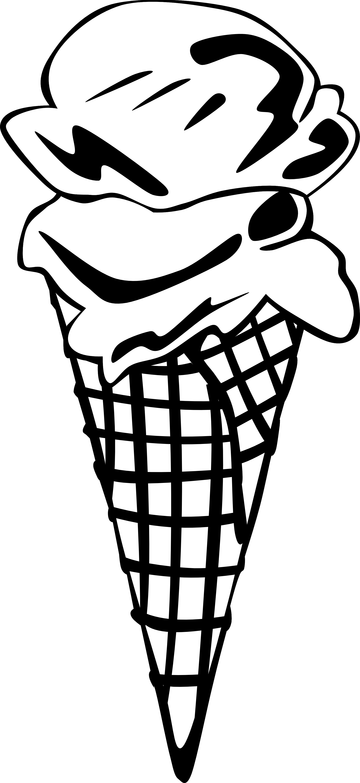 Black & White clipart ice cream Cone Cream Ice info Black