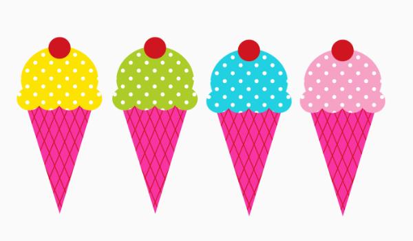 Waffle Cone clipart border Ice free cream 2 com