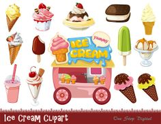 Cart clipart popsicle Food Clip Clipart Cream Ice