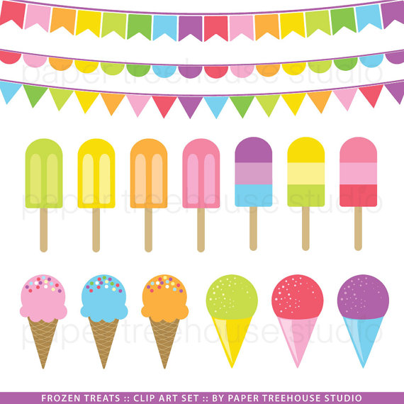 Iiii clipart ice cream And Snow Colorful Art Print