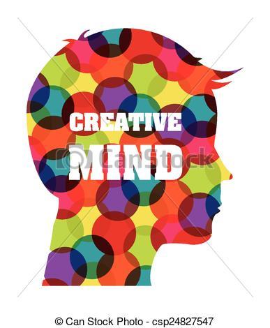 Creative clipart artwork Vector creative EPS mind vector
