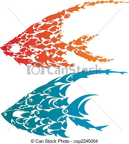 Creative clipart artwork Vector creative EPS fish design
