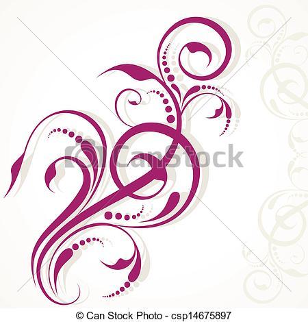 Creative clipart artwork Background creative design of floral