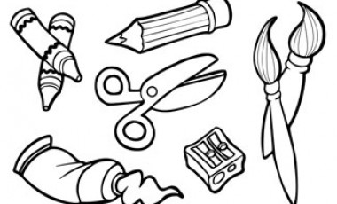 Artistic clipart drawing material Supplies art Art and white