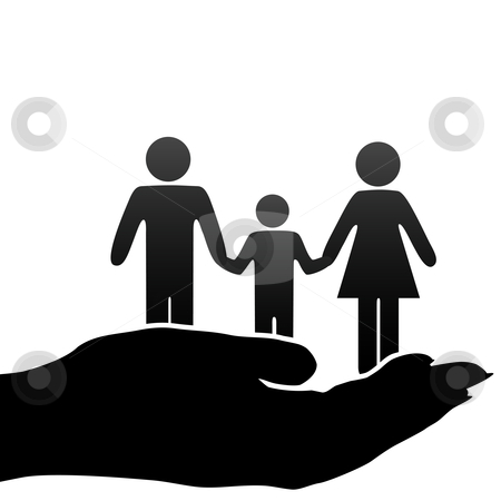 Creative clipart childrens hands Hand cupped in father stock