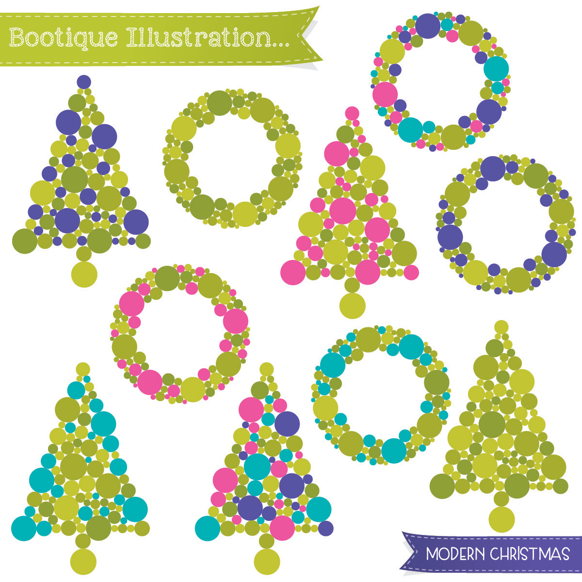 Wreath clipart fancy Christmas of Clipart range Christmas