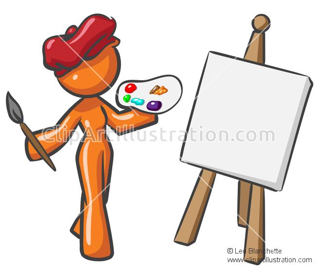 Palette clipart visual art Artist Palette Orange and Orange