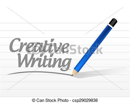 Desk clipart creative writing Illustration design writing Illustration Stock