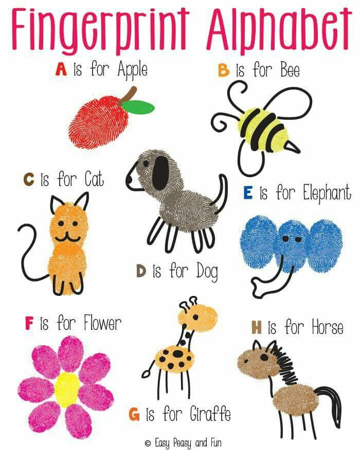 Creative clipart finger painting Pinterest 25+ art Finger alphabets