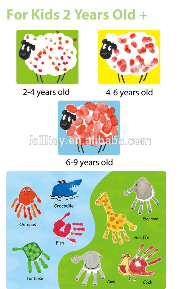 Creative clipart finger painting Set Paint Play kids Creative