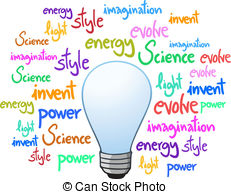 Creative clipart invention Infographic of Invention of bulb;