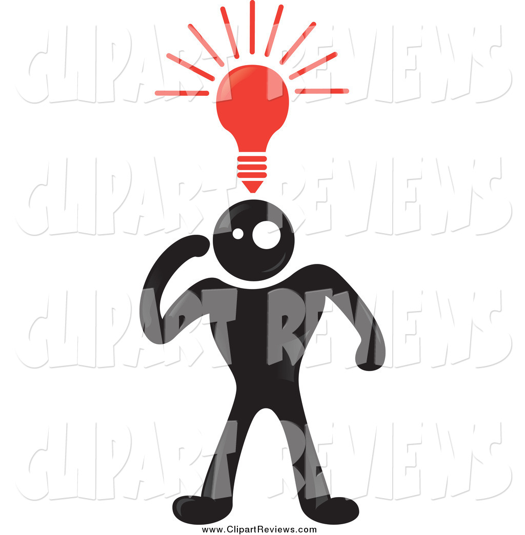 Creative clipart light bulb Above Man of His a