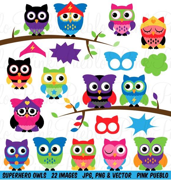 Creative clipart owl Superhero Art Owl on Clip
