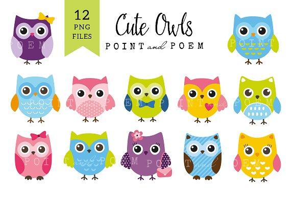 Creative clipart owl 50% Owls Off on Cute