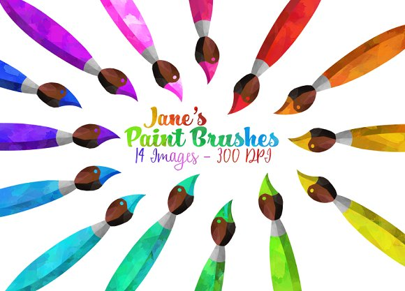 Brush clipart dog Illustrations Clipart ~ Paint Illustrations