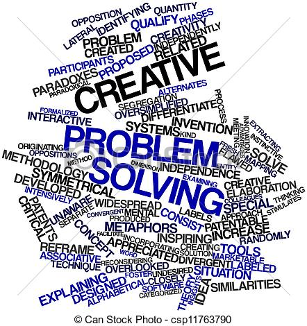 Creative clipart the word Creative Abstract Illustration Stock problem