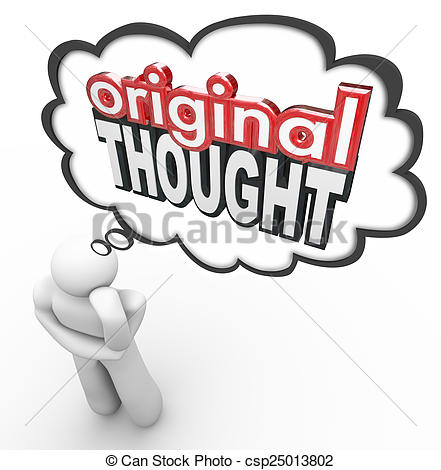Creative clipart thought Words Original Stock Creative Thought