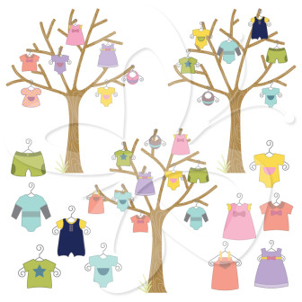 Tree clipart baby shower #2