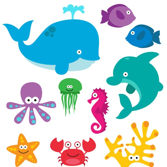 Sea Monster clipart orange Animals Clip Creatures best 65