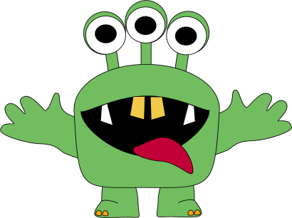Pink Eyes clipart baby monster Green cute Cute kids clipart