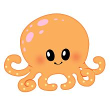 Sea Life clipart baby octopus #1
