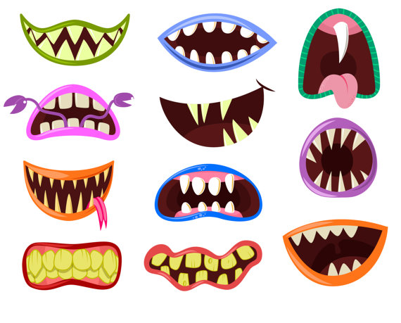 Monster clipart lip #1