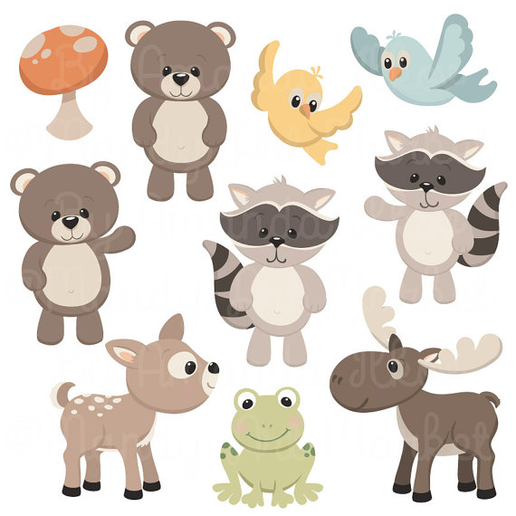 Moose clipart woodland #1
