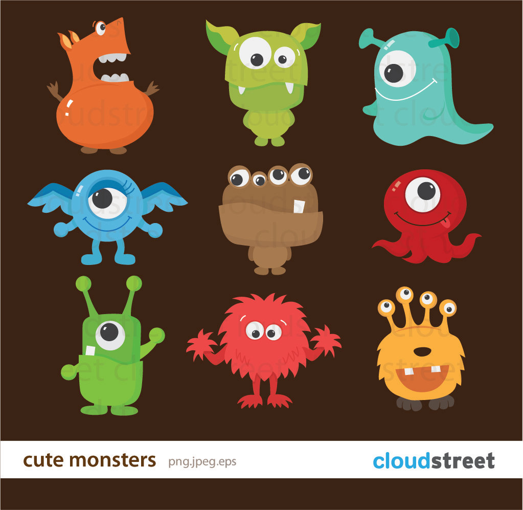 Monster clipart cute monster Vector ( Use OFF and