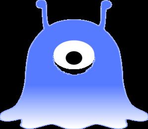 Monster clipart blue monster #10