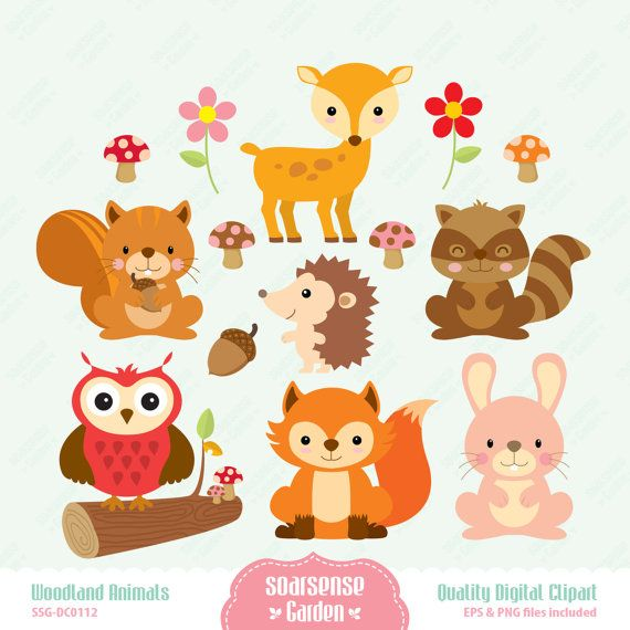 Wood clipart woodlands Pinterest 78 $3 Digital Clipart