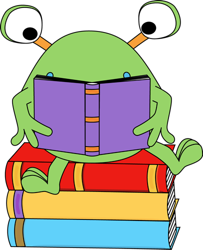 Covered clipart book cartoon Reading Images Monster Monster Clip