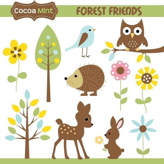 Owlet clipart friend Art Friends Forest 32 Clip