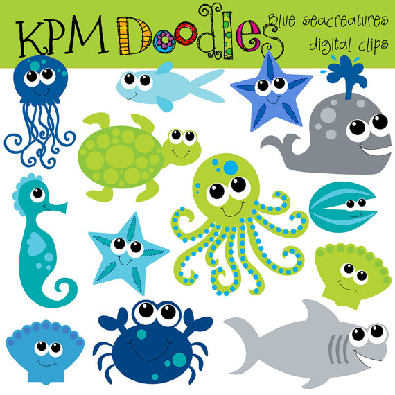 Sea Life clipart baby shower whale #4