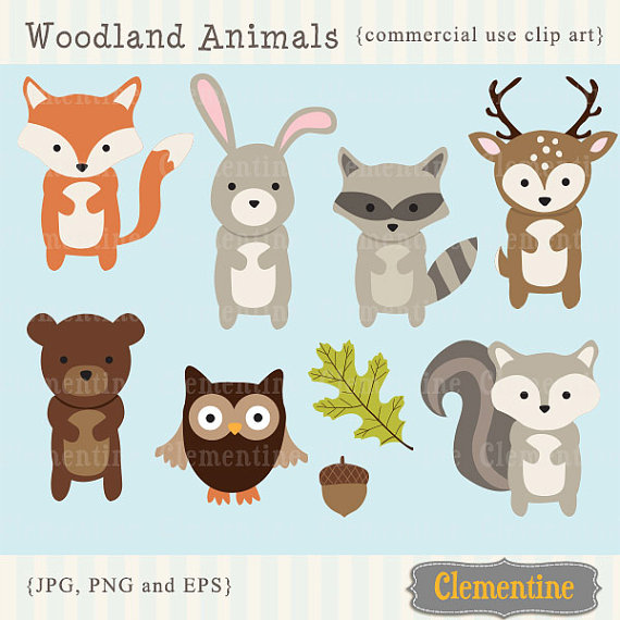 Raccoon clipart woodland So animals clip Woodland animals