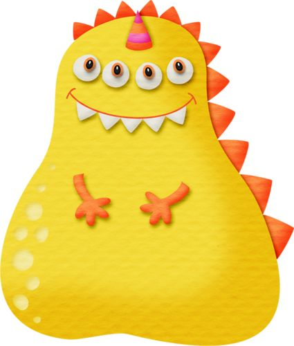 Monster clipart round #15