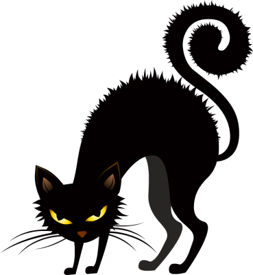 Black Cat clipart scared Creepy Scary Collection Creepy halloween