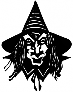 Creepy clipart Art Download Witch Page Clip