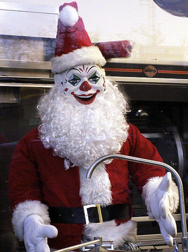 Santa clipart creepy #15