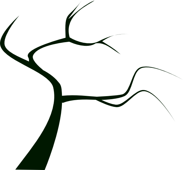 Barren clipart dead tree Clker vector Silhouette as: this